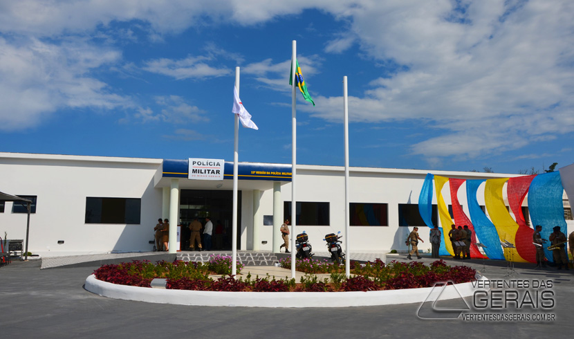 Sede da 13ª Região da PMMG em Barbacena.