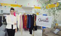 Larissa Loschi representando a loja Corina Moda Feminina.