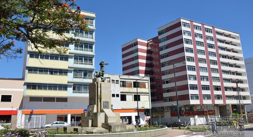 Praça dos Andradas, centro de Barbacena