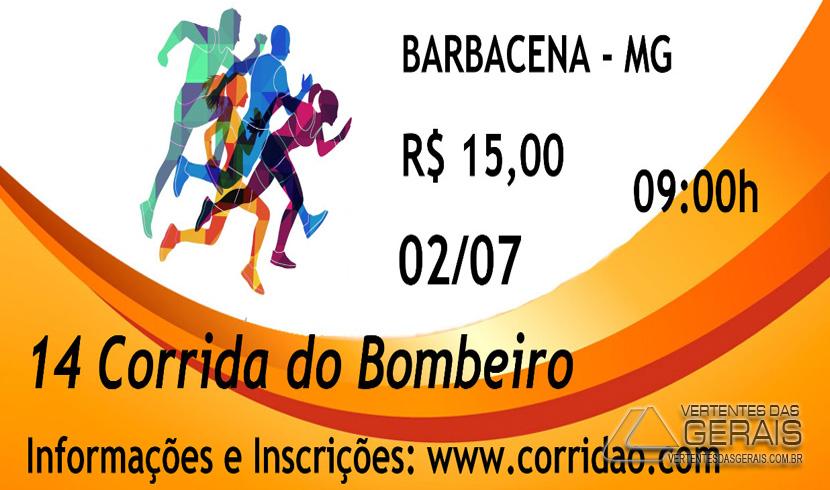 INSCRIÇÕES PARA A 14ª CORRIDA DO BOMBEIRO DE BARBACENA TERMINA AMANHÃ (28).