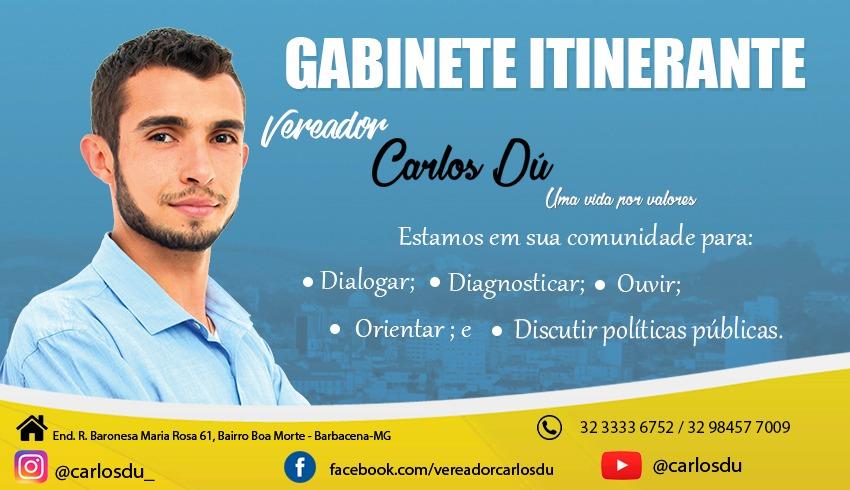 VEREADOR CARLOS DÚ LANÇA GABINETE ITINERANTE PARA AMPLIAR ATENDIMENTO A POPULAÇÃO