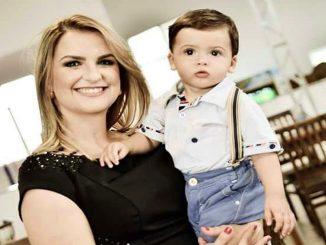 Welkmara  Alves e o filho Matheus.