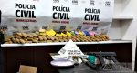 POLÍCIA CIVIL APREENDE GRANDE QUANTIDADE DE DROGAS E ARMA EM OURO BRANCO
