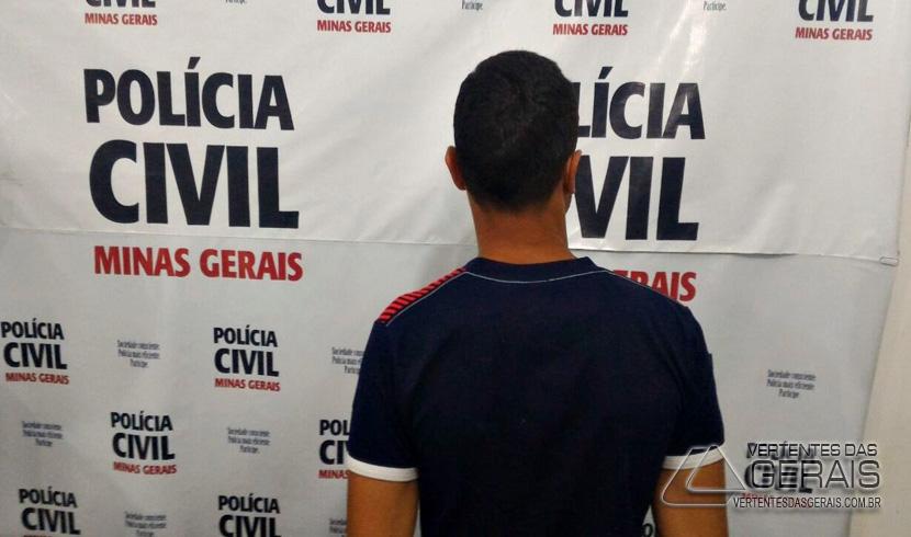 POLÍCIA CIVIL PRENDE SUSPEITO DE ROUBO EM MERCEARIA DO GROGOTÓ EM BARBACENA