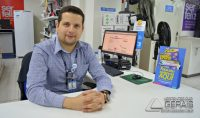 Wisney Silva, gerente da filial do Magazine Luíza em Barbacena.