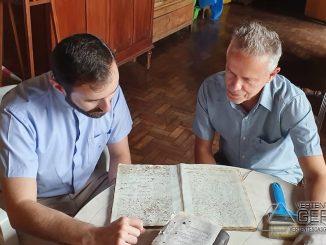 Padre Fábio Millione com o arquiteto Sérgio Cardoso Ayres