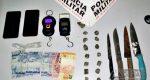 MULHERES SÃO DETIDAS E ARMAS E DROGAS APREENDIDAS NO NOSSA SENHORA APARECIDA