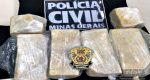 POLÍCIA CIVIL APREENDE 5 TABLETES DE PASTA BASE DE COCAÍNA EM SÃO JOÃO DEL REI