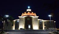 Visão noturna da Basílica com a nova iluminação