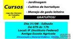 OPORTUNIDADE DE CURSOS GRATUITOS, INCLUSO ALIMENTAÇÃO E MATERIAL DIDÁTICO