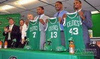 Jared Sullinger, Fab Melo (13), Kris Joseph: turma de draftados do Boston Celtics em 2012 (Foto: Reprodução)