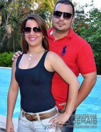 Luciana e o esposo Eduardo Fidelis Valente.
