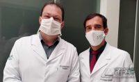 Legenda-foto: Dr. Newton e Dr. Rodrigo
