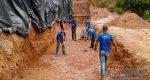 SEMOP INTENSIFICA OBRAS DE RECONSTRUÇÃO DE MURO NA ESCOLA TONY MARCOS