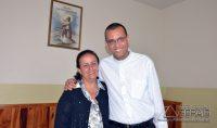 Padre Rodrigo com a mãe, Maria de Fátima  da Silva