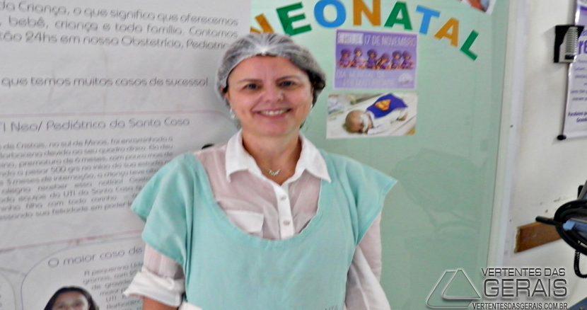 Drª Lucrécia, pediatra da Santa Casa de Barbacena