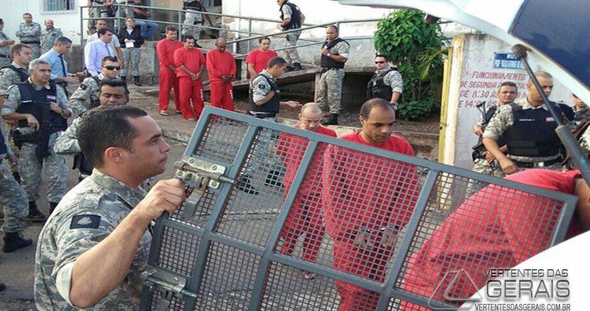 Detentos de Carandaí foram encaminhados para outras cidades (Foto: Anderson Silva/G1)