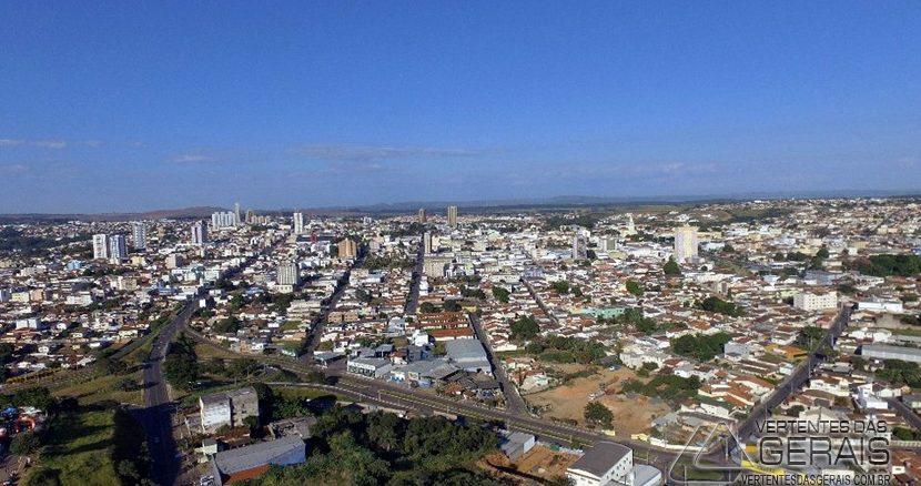 Vista aérea de Araxá,MG.
