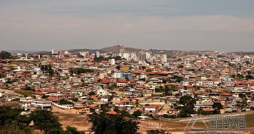 Visão geral da cidade de Barbacena.